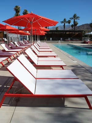 The since-closed Hacienda Cantina and Beach Club in Palm Springs. Union Abbey, a company that paid former mayor Steve Pougnet, cut a check on behalf of the company - despite having  a suspended business license.