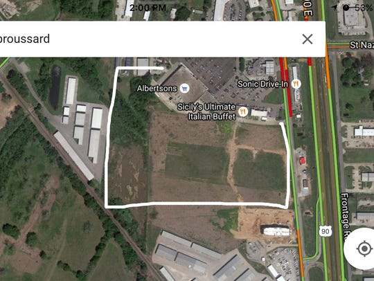 Location of upcoming Holiday Inn in Broussard