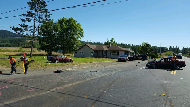 A Grand  Ronde man died in a two-car crash August 1, 2016, at the intersection of Grand Ronde Road and Highway 22.