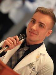Michael Healey, a first-year medical student at the