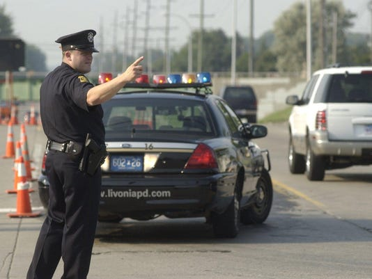 Livonia police direct traffic