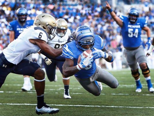 Tigers Navy Football lead