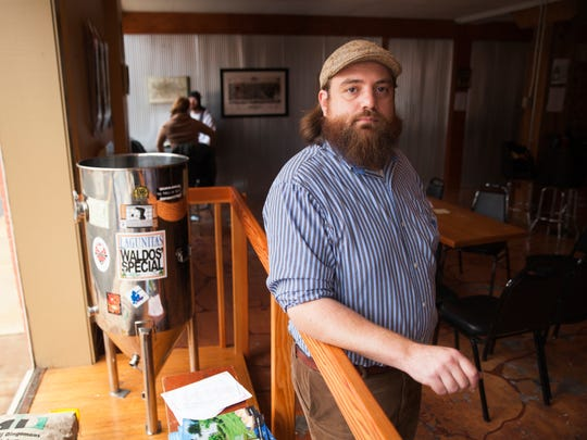 Jonathan Wright, owner of Redbeard Brewing Company, at his business in downtown Staunton on Oct. 12.