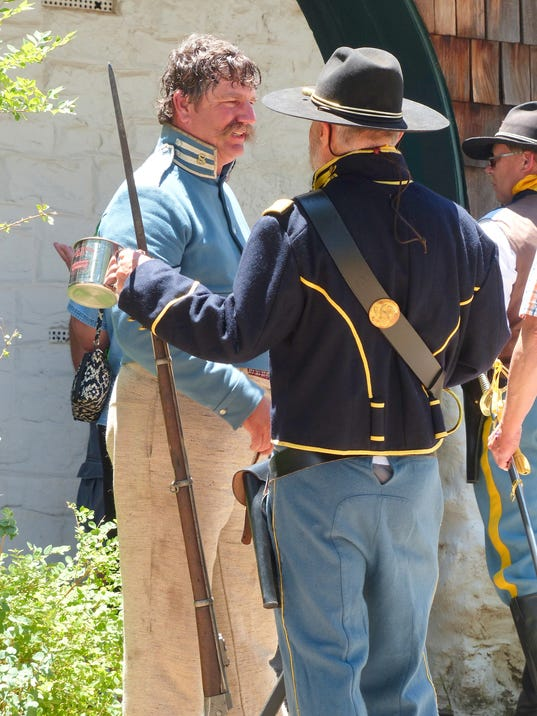 soldiers from a different era at fort stanton
