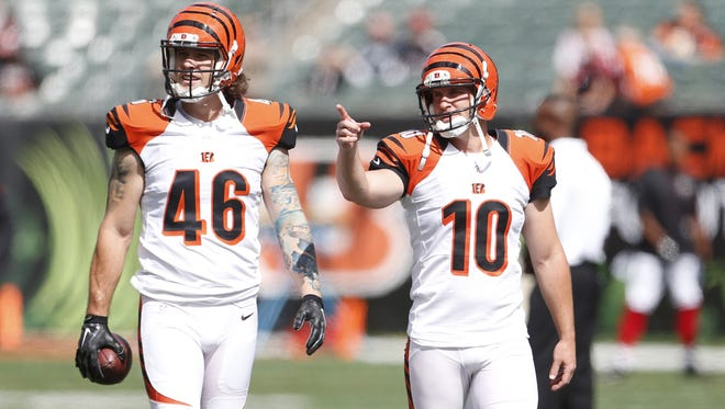 Punter Kevin Huber was able to give the Bengals' offense fantastic field position in Sunday's win over the Titans.