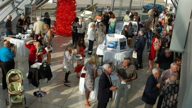 Attendees at the 2016 Taste of Spencer enjoyed good conversation at the theater while experiencing good wine and food.