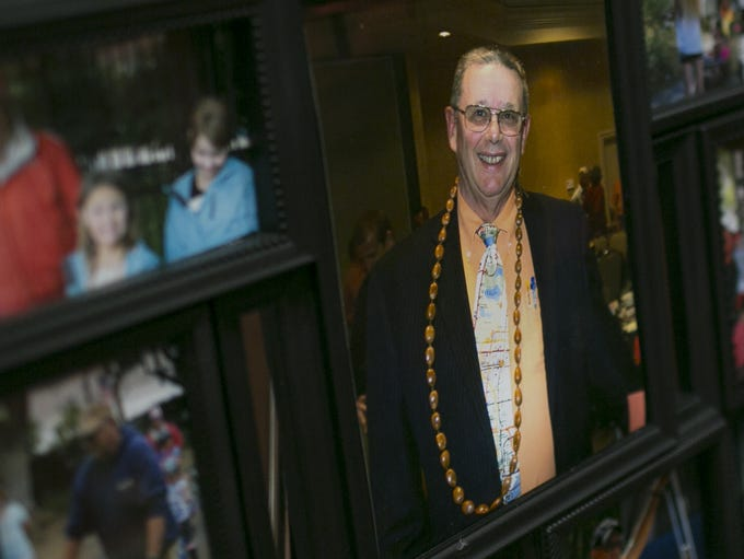 Ken Davis was remembered at a service at Marcos De
