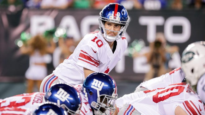 Giants quarterback Eli Manning isn't concerned about the team's struggles on offense during the preseason.