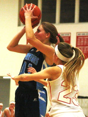 Livonia Stevenson's Arryn Dochenetz (pictured during a game earlier this season) scored a team-high 14 points during Tuesday's loss to Northville.
