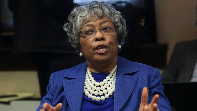 Councilwoman Mary Woolridge expressed her pleasure after Councilman David James notified her that the plans to develop the methane plants in the city have been cancelled in the the Democratic caucus.Jan. 6, 2015
