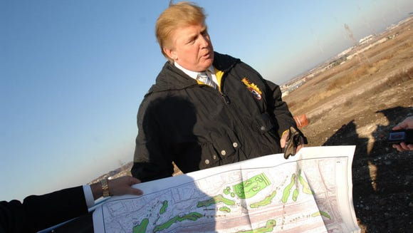 Real estate developer Donald Trump at the Meadowlands