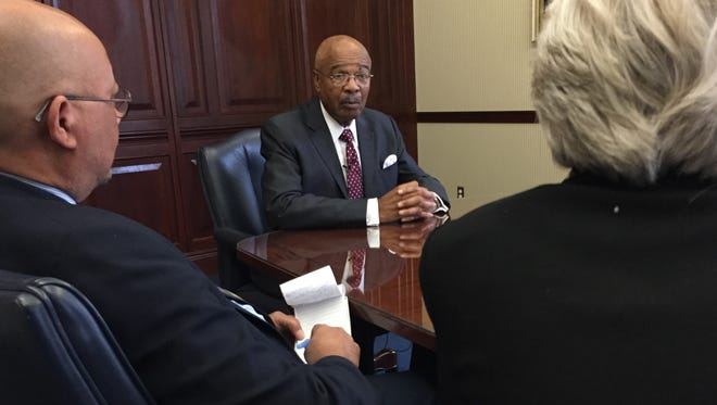 Jackson State University Interim President Rod Paige talks to The Clarion-Ledger Editorial Board.