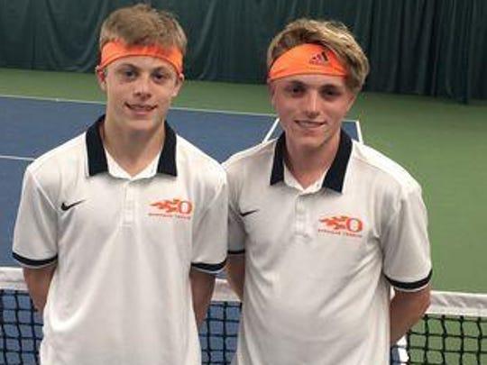 From left, Sprague tennis players Judd and Logan Blair.
