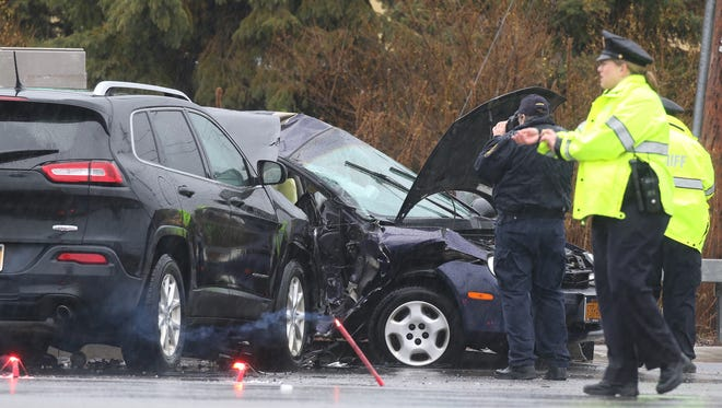 One person was killed and two injured in a two vehicle crash at Jefferson and Ridgeland Roads in Henrietta.