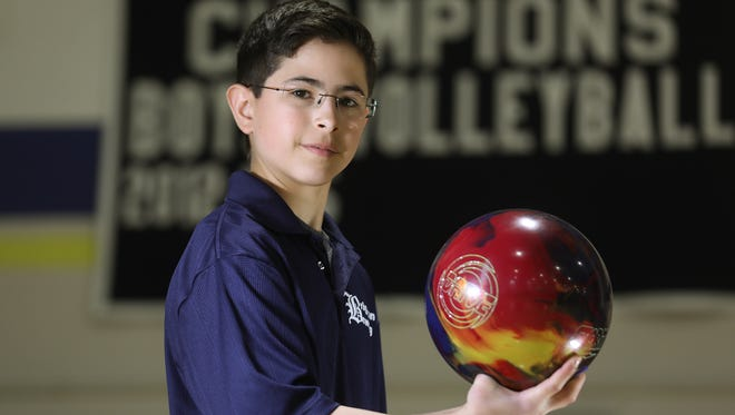 Cameron Hurwitz, a sophomore at Brighton High School, is the AGR Boys Bowler of the Year.
