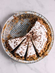 A pretzel crust provides a sweet-salty accent to French silk pie.