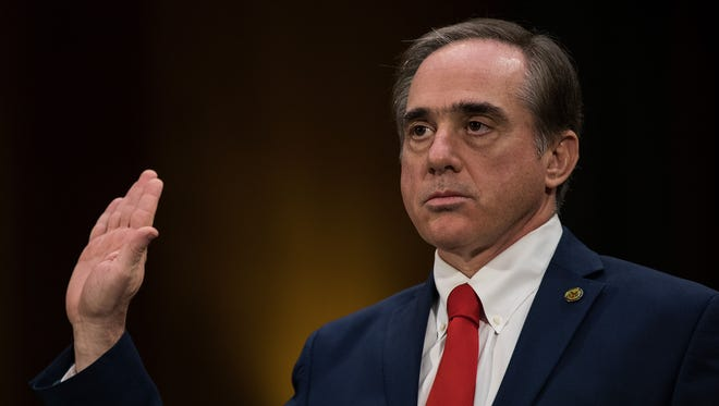 David Shulkin, President Donald Trump's nominee for secretary of Veterans Affairs, is sworn-in during his confirmation hearing on  Feb. 1, 2017.