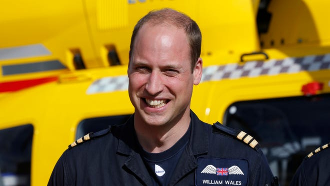 Prince William started his final shift as a helicopter pilot with the East Anglian Air Ambulance based out of an airport near Cambridge, England, on July 27, 2017.