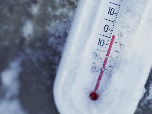 Thermometer with ice