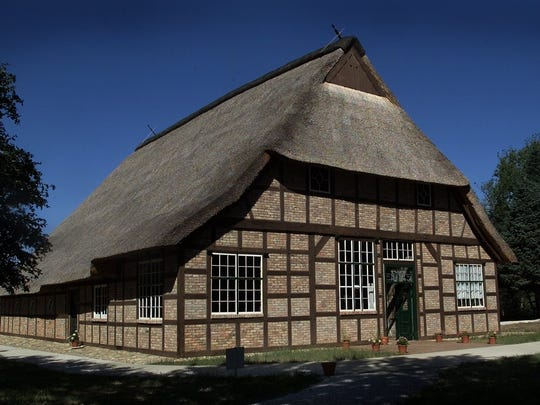 The 356-year-old German Hausbarn in Manning has living