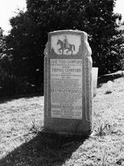 The Monument at the Johnson Cemetery at Graysville
