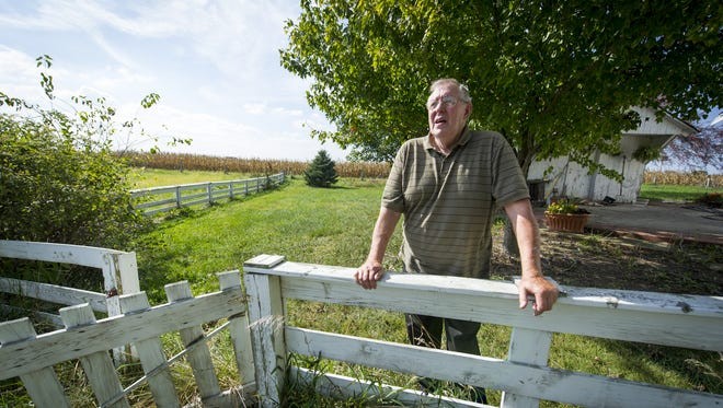 Richard Himsel lives on the farm his family has owned in Danville, Ind., since 1940. Himsel has filed a lawsuit challenging the constitutionality of Indiana's Right to Farm laws. He says the presence of an industrial-sized hog farm adjacent to his property has diminished the quality of his life. Due to the odor, his wife no longer lives on the property.