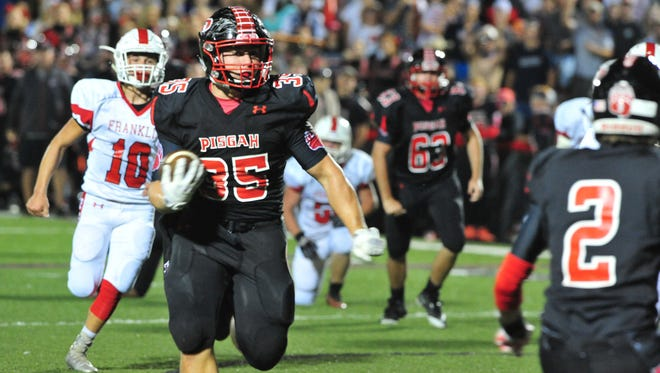 Michael Parrott (35) and Pisgah are home for Friday's rivalry game with Tuscola.