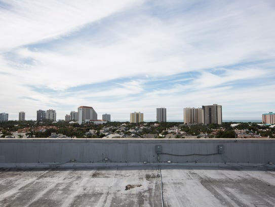 View from where proposed terrace will be at Artis—Naples