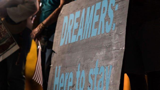 At a recent vigil for dreamers.