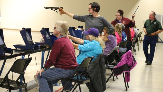 "The NorthCoast Marksmanship Club hosts an official NRA ""Women on Target"" instructional shooting clinic at the Gary Anderson CMP Competition Center at Camp Perry."