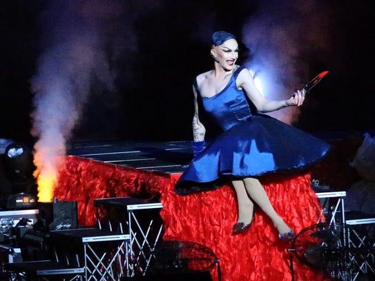 Sasha Velour, a contestant in RuPaul's Drag Race TV