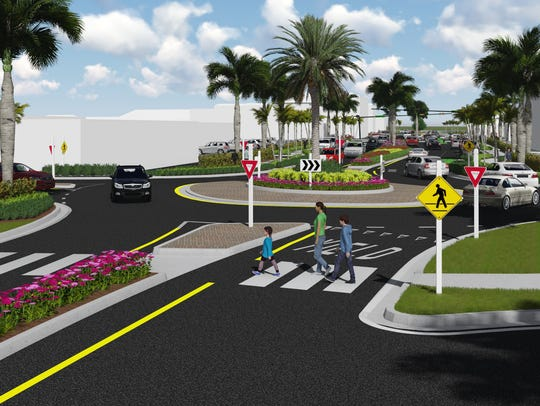 Rendering of roundabout at Central Avenue and 10th