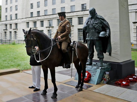 Haldalgo, representing life-saving Marine horse Sergeant Reckless, who survived one of the bloodiest battles in modern military history.
