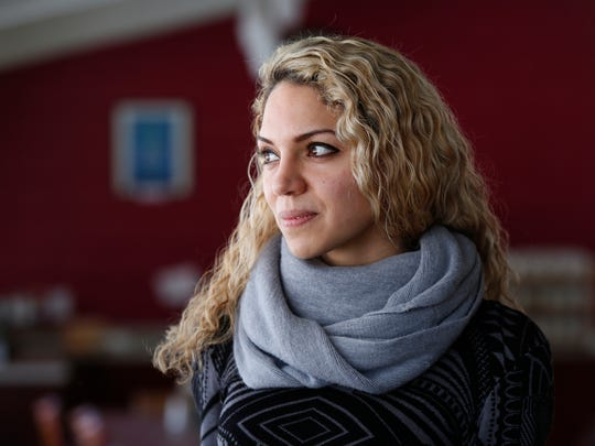 Ahed Festuk, 29, an activist from Aleppo, Syria is