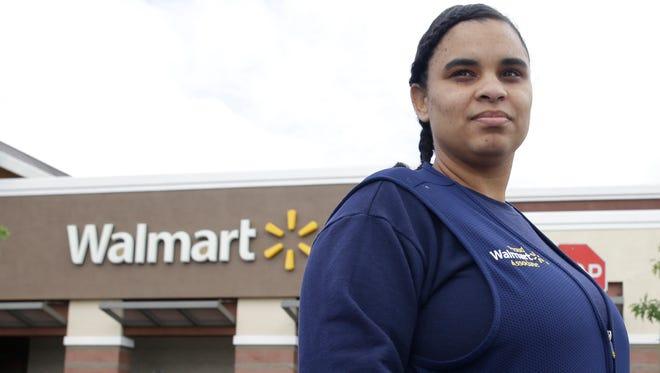 Shannon Henderson works as a part-time customer-service representative for Walmart in Sacramento.