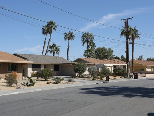 A few homes on Tennessee Avenue in the Palm Desert