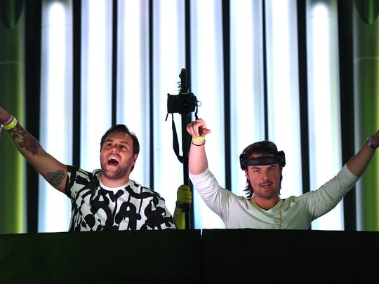 DJs/producers Sebastian Ingrosso (L) and Axwell perform as Axwell /\ Ingrosso during the 18th annual Electric Daisy Carnival at Las Vegas Motor Speedway on June 23, 2014 in Las Vegas, Nevada.