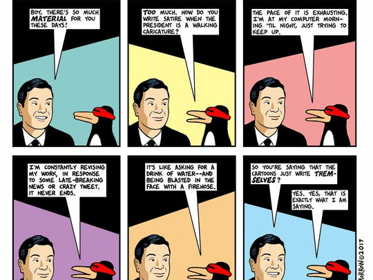"""A """"This Modern World"""" comic strip featuring Sparky"""