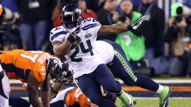 RB Marshawn Lynch has powered the Seahawks' running game since joining the team in 2010.