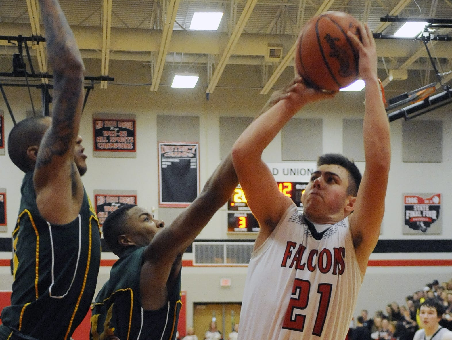 Thomas Green is one of four starters returning for the Fairfield Union boys basketball team.
