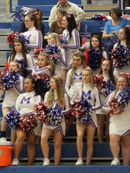 Madison's cheerleaders supported both boys and girls