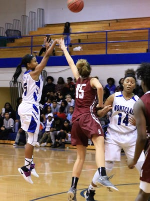 Montclair senior Alisa Wiggins is proving to be one of the top perimeter threats in the county.