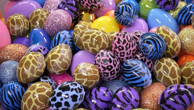 Volunteers at First Assembly of God Church are expecting to fill over 20,000 plastic eggs with candy for the annual community-wide Easter Egg Hunt, March 26.