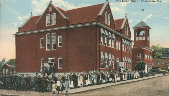A post card depicting the original Robert E. Lee High School and Lewis and Baldwin streets in Staunton. Although the school, which previously had been known as Staunton High School, was renamed with the Lee name in 1914, the new name wasn't commonly used until it had been in place about a decade.