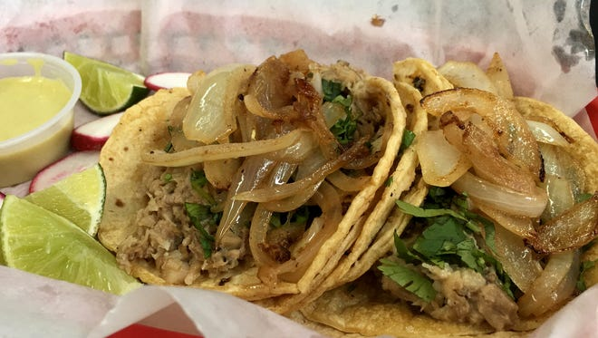 Suadero taco from Torti Taco in Battle Creek placed first in the Taco Showdown at Eastern Market in Detroit.