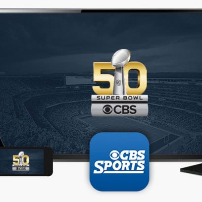 Promotional art from CBS Sports about Super Bowl 50