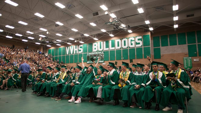 Virgin Valley High School commemorates the graduation of their 2018 class Friday, May 25, 2018.
