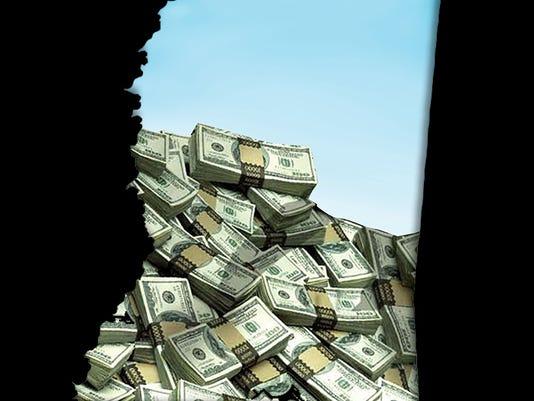 money-mississippi-map