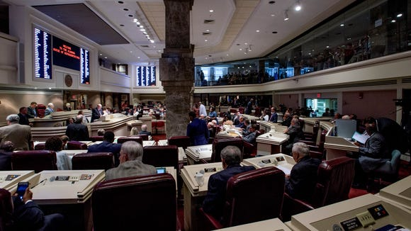 The first day of the special session of the Alabama Legislature held at the Alabama Statehouse in Montgomery, Ala., on Monday August 15, 2016. The special session was called by Governor Robert Bentley to discuss a possible state lottery.