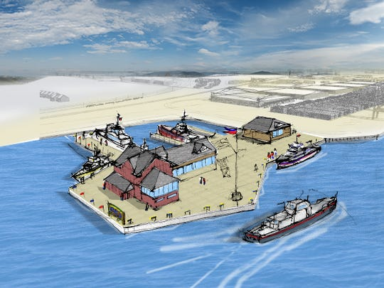 An artist's rendering shows the First State Logistics